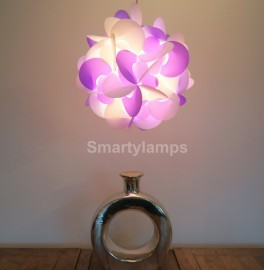 Curve Purple and White Decorative Light Shade