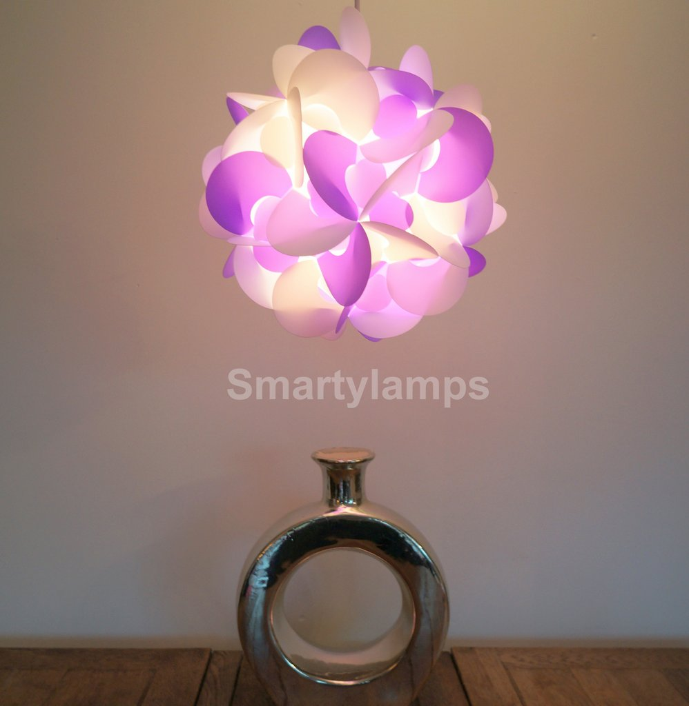 Smarty lamps curve hanging pendant light shade decoration smarty curve purple and white decorative light shade aloadofball Images