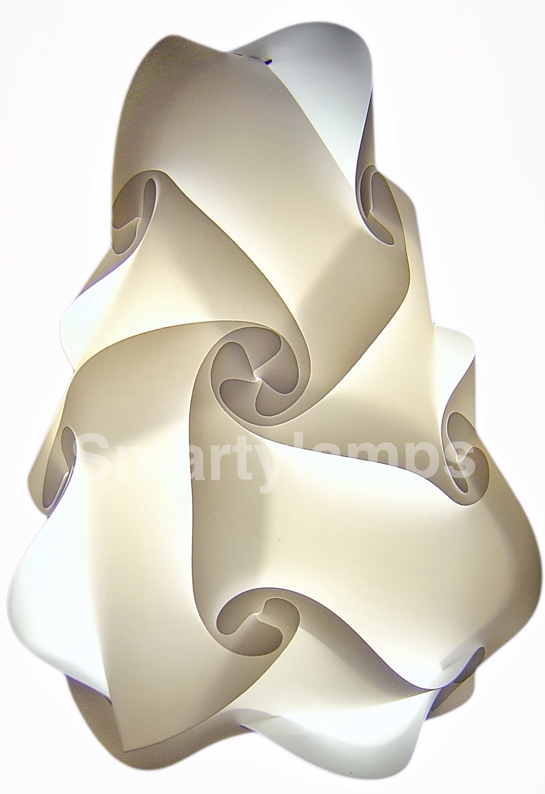 White retro designer lampshade made from 15 pieces smarty lamps gudrun lampshade mozeypictures Image collections