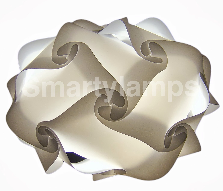 white retro designer ceiling pendant light shade made from 20 pieces